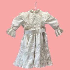 Beautiful large antique Type silk and cotton doll dress