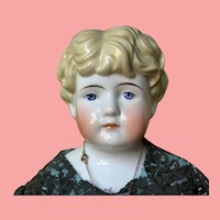 "Alt Beck and Gottschalk Antique China Doll 23"" Blond"