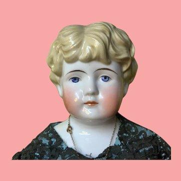"""Alt Beck and Gottschalk Antique China Doll 23"""" Blond"""