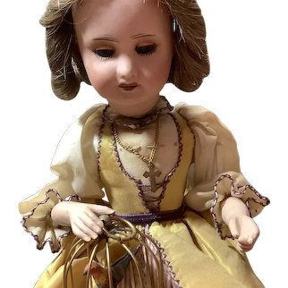 Fabulous French Antique Automaton Lady With Bird