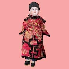 "Antique Chinese German Bisque Doll. All Original 10"" 1/2"""