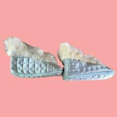 Darling Vintage Silk Baby Slippers in Original Boxes 3 pair