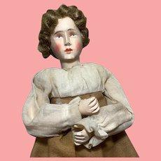"Vintage Rare 10"" Carved Wood String Puppet All Original + Extra"