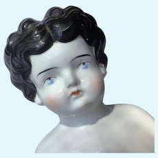 """Antique 19"""" 1880s China Head Doll"""