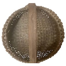 Small Antique Buttock Egg Basket