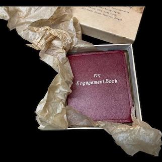 Vintage My Engagement Book Original Box