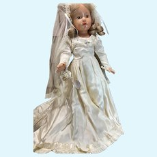 """21"""" Effanbee Little Lady Composition Bride Doll"""