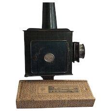 Antique Magic Lantern Magnifying Lenses Kerosene Burner