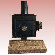 Antique Magic Lantern Magnifying Lenses Kerosene Burner