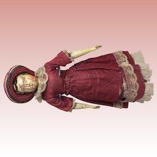 12inch 1870 Antique Joel Ellis Wooden Doll