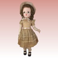Hard Plastic Madame Alexander Sweet Violet Walker All Original and Tagged 18""