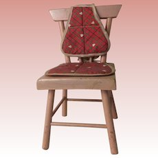 Alexander Kins Tagged Chair Cushion Set On Pink Wooden Chair