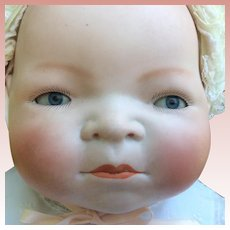 Large German Bisque Grace Story Putnam Bye Lo Baby
