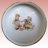 Glazed Porcelain Vintage Child's Alphabet Food Dish