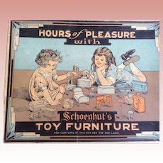 Schoenhut Toy Furniture In Original Box Living Room