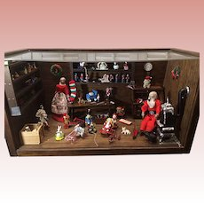 Amazing Wood Santa's Workshop Christmas Roombox Diorama Fully Furnished 1985