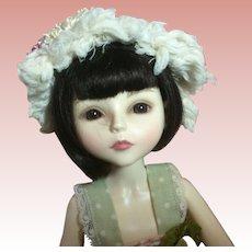 "Nice Small Vintage Doll Hat Handmade. Fits 10"" Doll Head"