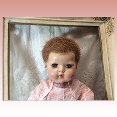 """15"""" Effanbee Dy-Dee Baby Caracul Wig Applied Ears"""