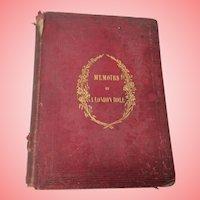 Memoirs Of A London Doll Book  1852 Hardback