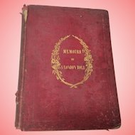 Memoirs Of A London Doll Book  1852 Hardback