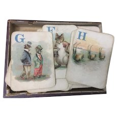 Game of Logomachy Mc Laughlin  Cards Victorian 1889 Original Box
