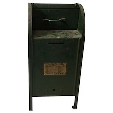 Vintage Metal Toy Post Office Box  Bank