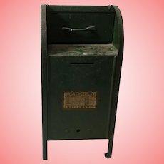 Vintage Metal Toy Post Office Box  Bank