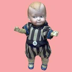 """7"""" Antique German Bisque Google Boy Doll"""