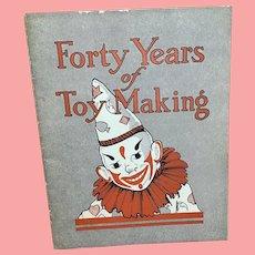 1975 40 years of toy making Albert Schoenhut booklet