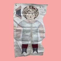 Art Fabric Mills Uncut Cloth Doll 1900