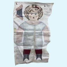 Art Fabric Mills Uncut Cloth Doll 1900