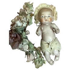 """Vintage All Bisque Baby 6 & 1/2"""""""