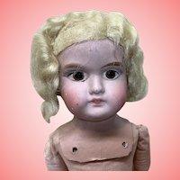 """17"""" Very unusual German Shoulder Head Vintage Doll"""