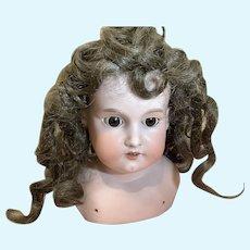 Antique German Bisque AM 390 Doll Shoulder Head