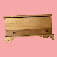 Miniature blanket chest with Erna Meyer Baby