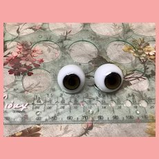 20 MM Antique Brown German Glass Doll Eyes