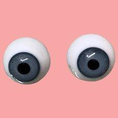18MM Antique Glass German Doll Eyes