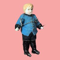 """4"""" All Bisque Boy Jointed Soldier Doll"""