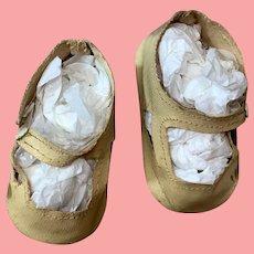 Antique German Cloth Doll Shoes