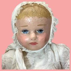 """24"""" Antique Martha Chase Early Oil Panted Cloth Baby"""