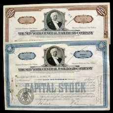 New York Central Railroad Stock Certificates