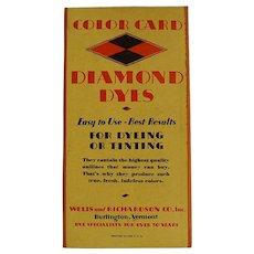 Diamond Dyes Color Card
