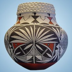 Painted Pottery Bowl by Vallo (Acoma NM Pueblo)