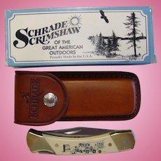 Schrade 507SC Scrimshaw Folding Lockback Knife NIB