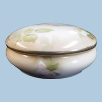 RS Germany Hand Painted Porcelain Dresser Box