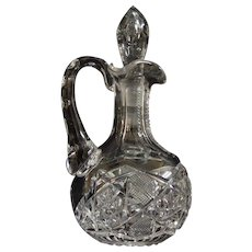 Cut Cut Glass Cruet