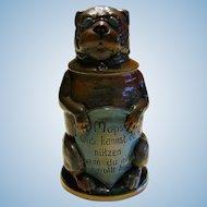 German Pug Dog Figural Stein