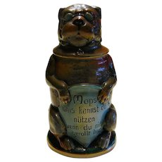 German Pug Dog Figural Stein