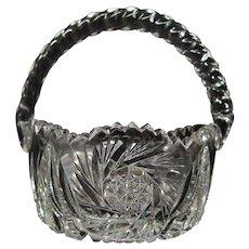 American Brilliant Cut Glass Basket