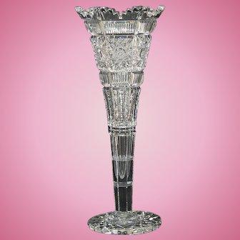 Hawkes Trumpet Vase